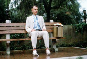 Tom Hanks em Forrest Gump: O Contador de Histórias.